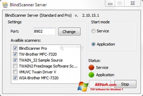 Screenshot BlindScanner Windows 7