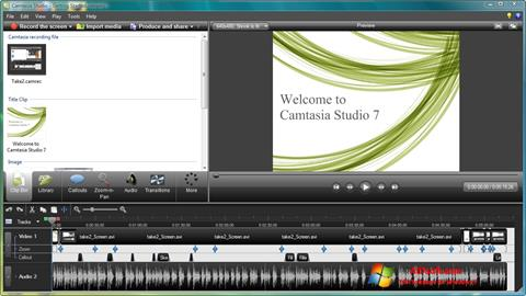 Screenshot Camtasia Studio Windows 7