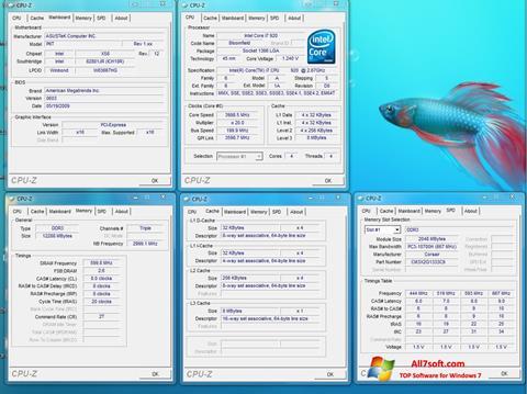 Screenshot CPU-Z Windows 7