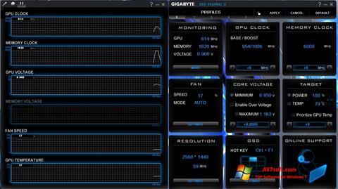 Screenshot GIGABYTE OC Guru Windows 7
