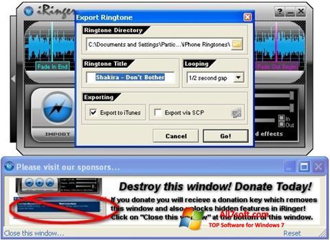 Screenshot iRinger Windows 7