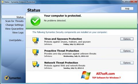 Screenshot Symantec Endpoint Protection Windows 7