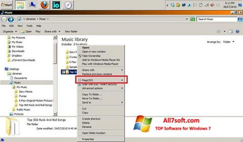 Screenshot MagicISO Windows 7