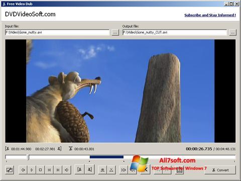 Screenshot Free Video Dub Windows 7
