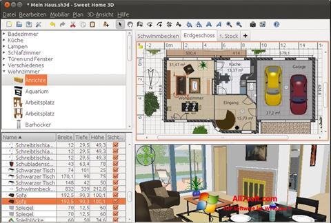 Screenshot Sweet Home 3D Windows 7