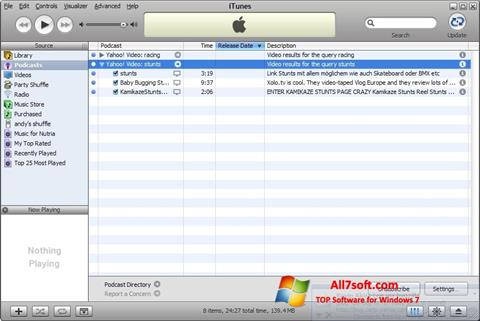Screenshot iTunes Windows 7