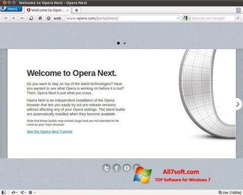 Screenshot Opera Developer Windows 7