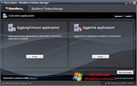 Screenshot BlackBerry Desktop Manager Windows 7