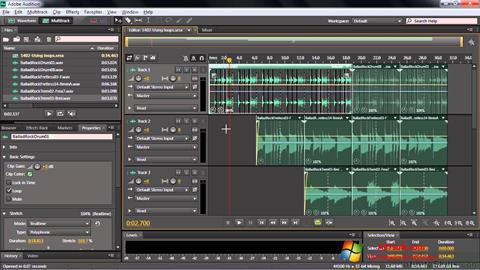 Screenshot Adobe Audition CC Windows 7