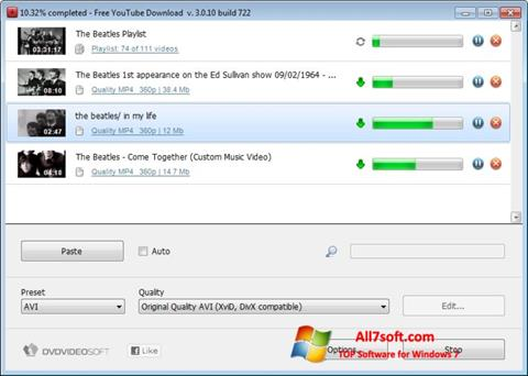 Screenshot Free YouTube Download Windows 7
