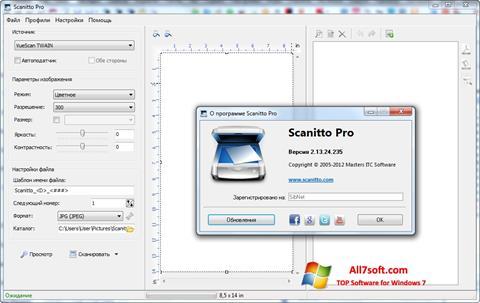 Screenshot Scanitto Pro Windows 7