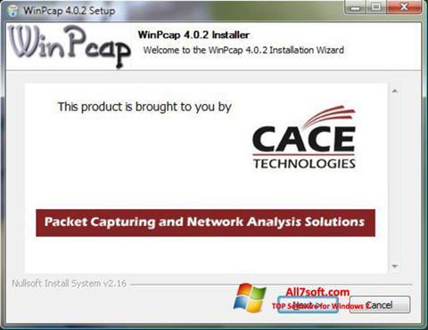 Screenshot WinPcap Windows 7