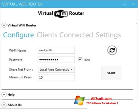 Screenshot Virtual WiFi Router Windows 7