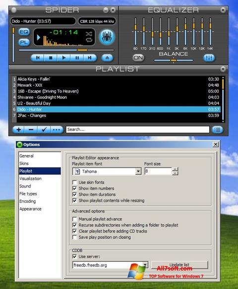 Screenshot Spider Player Windows 7