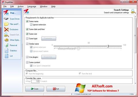 Screenshot DupKiller Windows 7