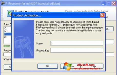 Screenshot F-Recovery SD Windows 7