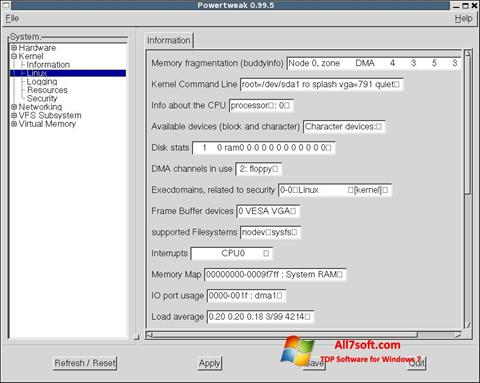 Screenshot PowerTweak Windows 7