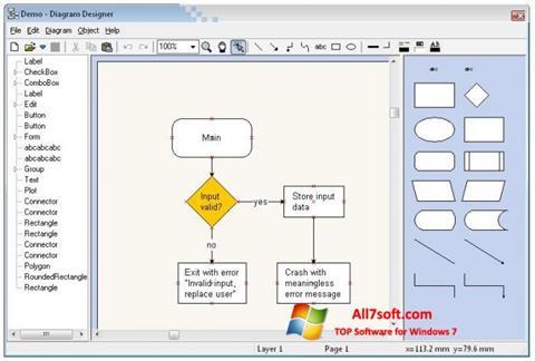 Screenshot Diagram Designer Windows 7
