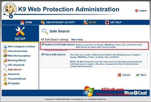 Screenshot K9 Web Protection Windows 7