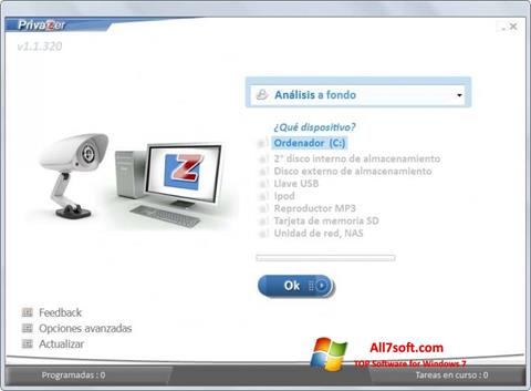 Screenshot PrivaZer Windows 7