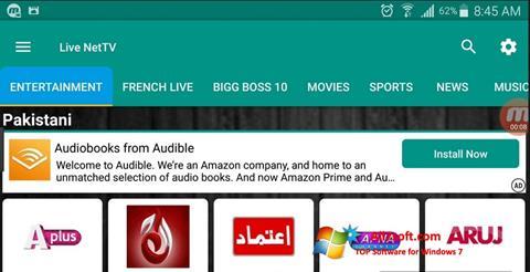 Screenshot Net TV Windows 7