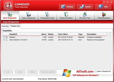Screenshot Comodo Time Machine Windows 7