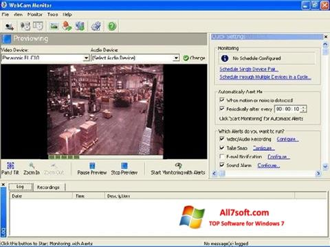Screenshot WebCam Monitor Windows 7