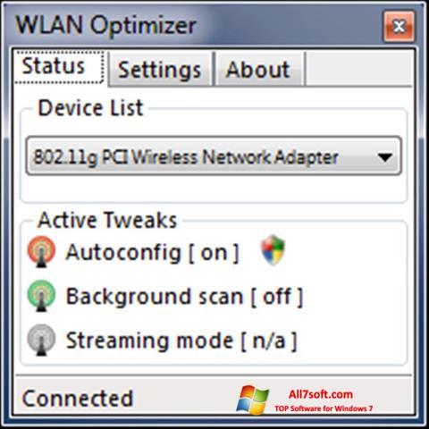 Screenshot WLAN Optimizer Windows 7