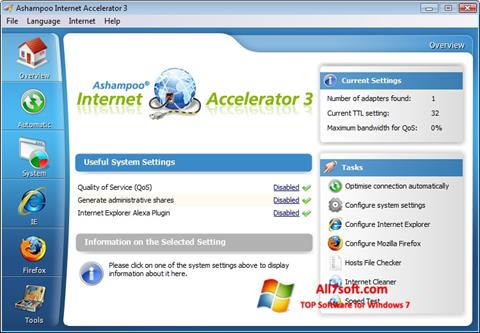 Screenshot Ashampoo Internet Accelerator Windows 7