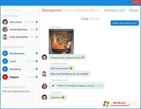 Screenshot Trillian Windows 7