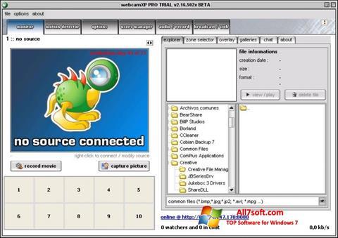 Screenshot webcamXP Windows 7