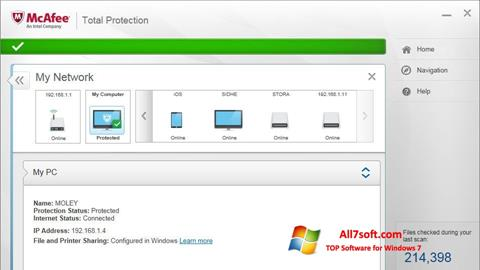 Screenshot McAfee Total Protection Windows 7