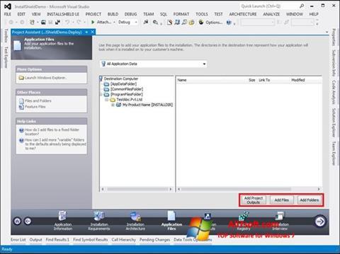 Screenshot InstallShield Windows 7
