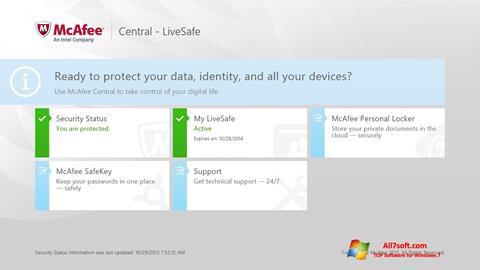 Screenshot McAfee LiveSafe Windows 7