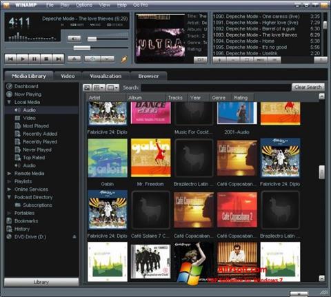 Screenshot Winamp Windows 7