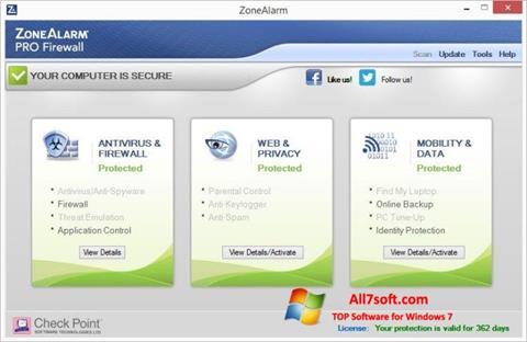Screenshot ZoneAlarm Pro Windows 7