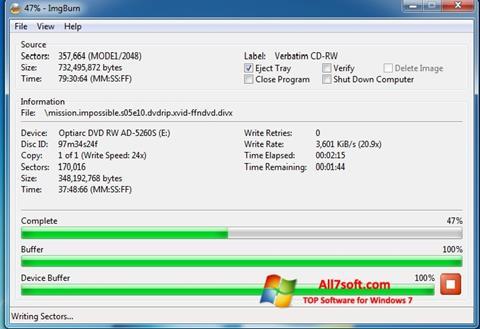 Screenshot ImgBurn Windows 7