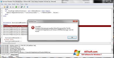 Screenshot Inno Setup Windows 7