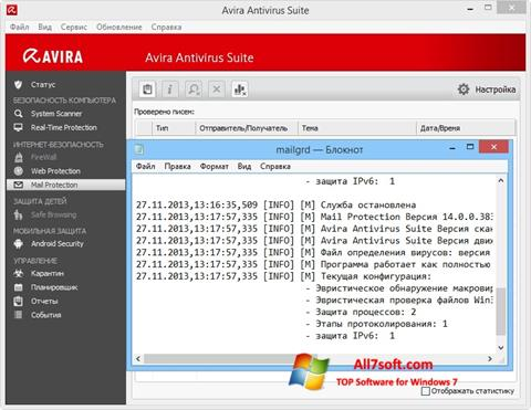 Screenshot Avira Windows 7