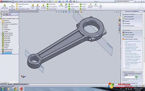 Screenshot SolidWorks Windows 7