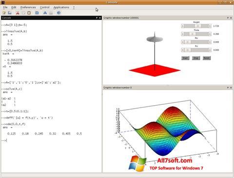 Screenshot Scilab Windows 7