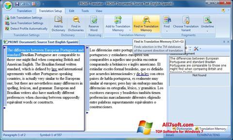 Screenshot PROMT Windows 7