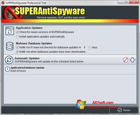 Screenshot SUPERAntiSpyware Windows 7
