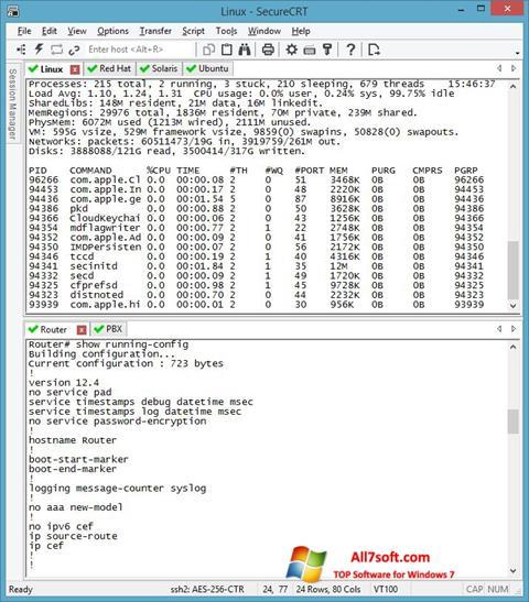Screenshot SecureCRT Windows 7