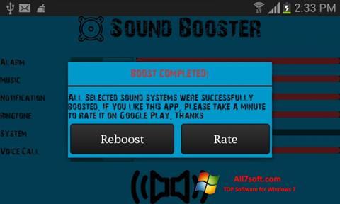 Screenshot Sound Booster Windows 7