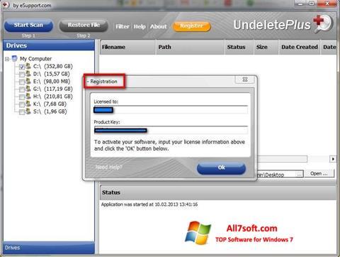 Screenshot Undelete Plus Windows 7