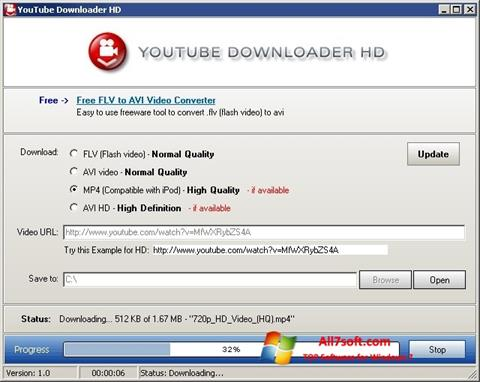 Screenshot Youtube Downloader HD Windows 7