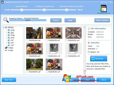 Screenshot CardRecovery Windows 7