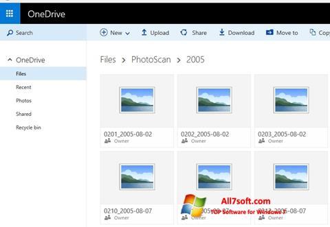 Screenshot OneDrive Windows 7