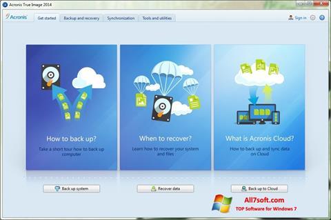 Screenshot Acronis True Image Windows 7